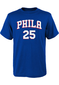 Ben Simmons Philadelphia 76ers Youth Player T-Shirt - Blue