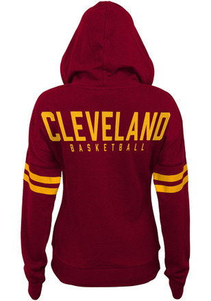 Cleveland Cavaliers Womens Red Varsity Pullover Hoodie