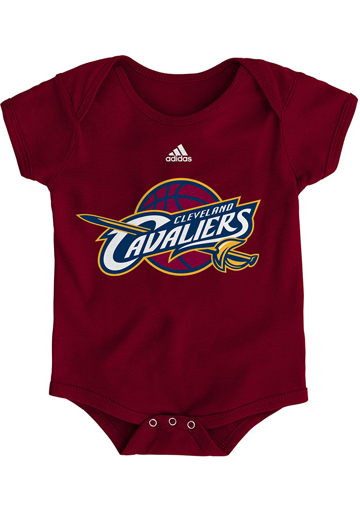 Cleveland Cavaliers Baby Maroon Primary Short Sleeve One Piece - Image 1