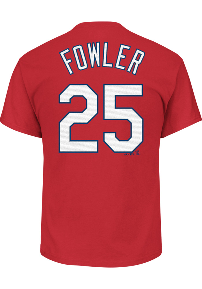 Dexter Fowler St Louis Cardinals Youth Red Name and Number Player Tee - Image 1