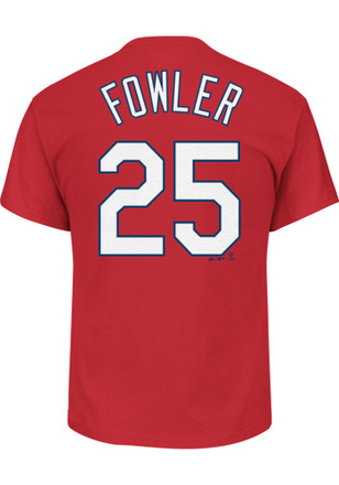 Dexter Fowler Outer Stuff St Louis Cardinals Kids Name and Number Red Player Tee