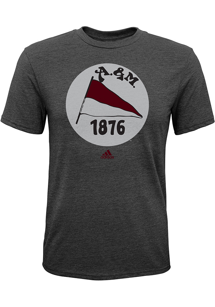 Texas A&M Aggies Youth Grey Vintage Short Sleeve T-Shirt - Image 1