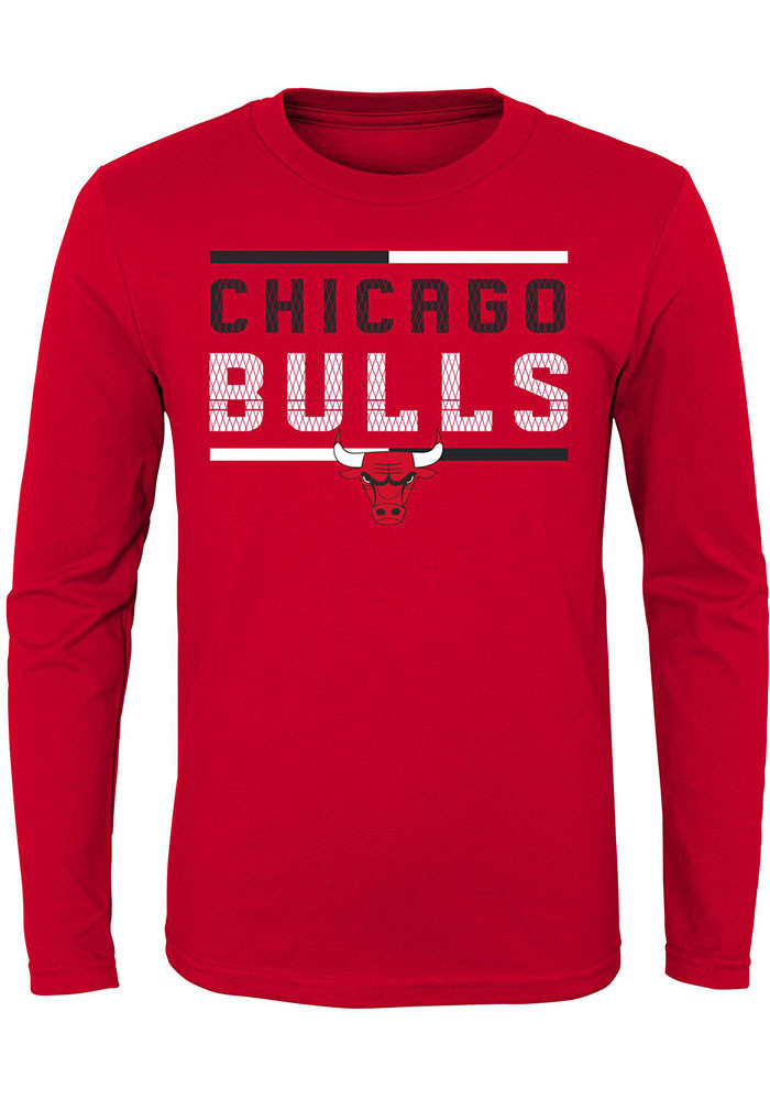 Chicago Bulls Youth Red Ultra Long Sleeve T Shirt 13345949
