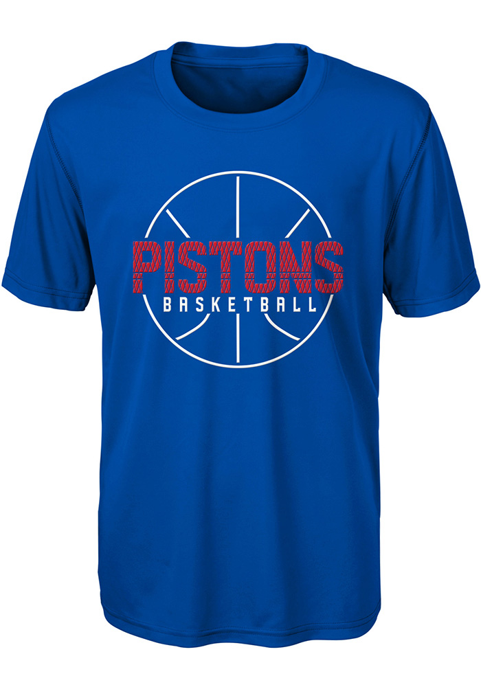 Detroit Pistons Youth Blue Ultra Short Sleeve T-Shirt - Image 1