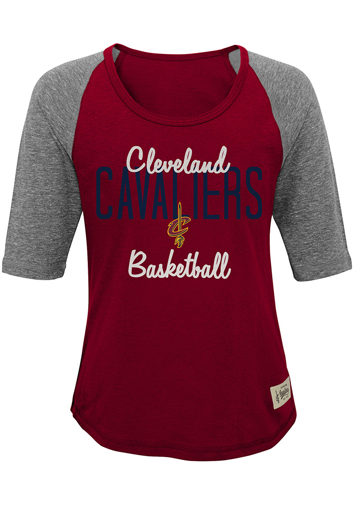 Cleveland Cavaliers Girls Red Turnover Short Sleeve Tee - Image 1