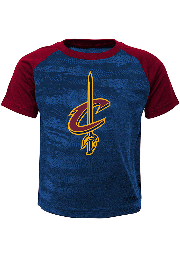Cleveland Cavaliers Toddler Red Double Dribble Set Top and Bottom - Image 1