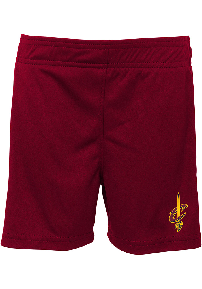 Cleveland Cavaliers Toddler Red Double Dribble Set Top and Bottom - Image 2