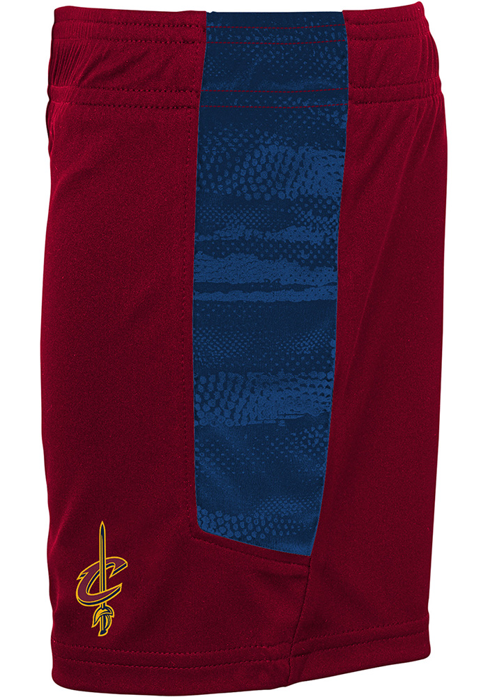 Cleveland Cavaliers Toddler Red Double Dribble Set Top and Bottom - Image 3