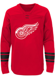 Detroit Red Wings Boys Shattered Ice Crew Sweatshirt - Red