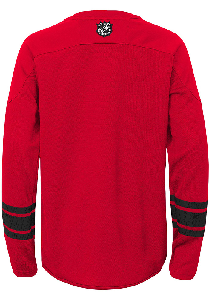 Detroit Red Wings Boys Red Shattered Ice Long Sleeve Crew Sweatshirt - Image 2