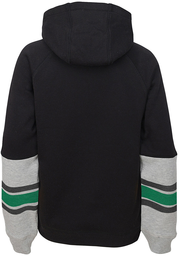 Dallas Stars Boys Black Heroic Long Sleeve Hooded Sweatshirt - Image 2
