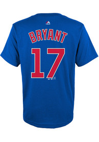 Kris Bryant Chicago Cubs Youth Name and Number T-Shirt - Blue