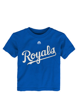 Lorenzo Cain Outer Stuff KC Royals Kids Name and Number Blue Player Tee