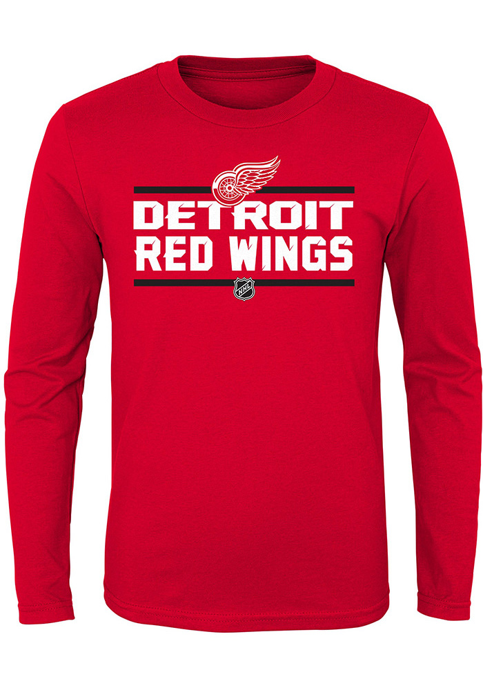 Detroit Red Wings Boys Red Epitome Long Sleeve T-Shirt - Image 1