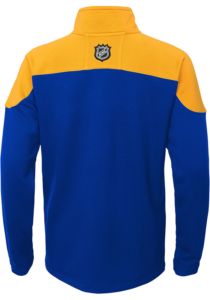 St Louis Blues Youth Blue Prospect Long Sleeve Quarter Zip Shirt - Image 2