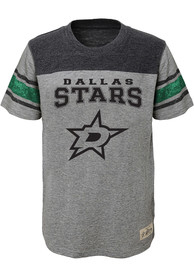 Dallas Stars Youth Grey Heritage Fashion Tee