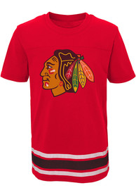 Chicago Blackhawks Youth Black Captain T-Shirt