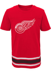 Detroit Red Wings Youth Red Captain Short Sleeve T-Shirt