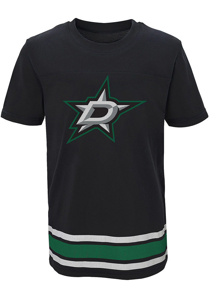 Dallas Stars Youth Black Captain T-Shirt