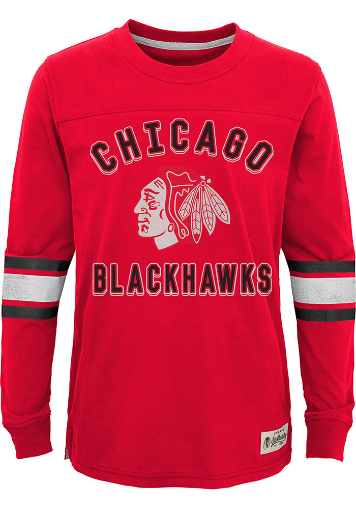 Chicago Blackhawks Youth Historical T-Shirt - Red