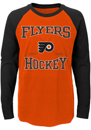 0d63137aa Philadelphia Flyers Youth Orange Polymer Long Sleeve Quarter Zip ...