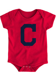 Cleveland Indians Baby Red Primary One Piece