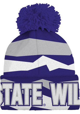 K-State Wildcats Purple Cuffed Kids Knit Hat