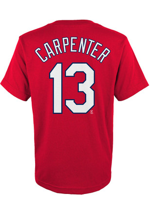 Matt Carpenter Outer Stuff St Louis Cardinals Kids Name and Number Red Player Tee