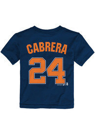 Miguel Cabrera Detroit Tigers Toddler Navy Blue Player Tee