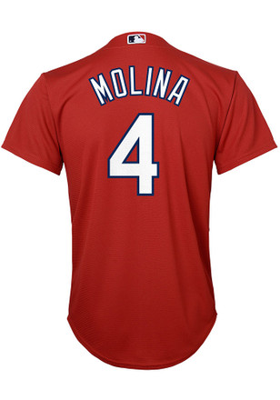 Yadier Molina St Louis Cardinals Boys Red Alternate Baseball Jersey