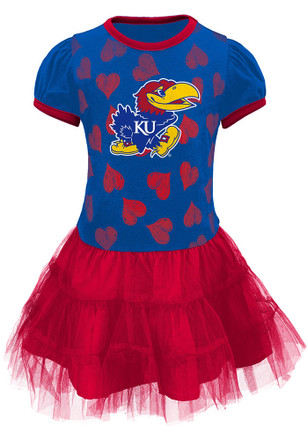 Kansas Jayhawks Toddler Girls Blue Love to Dance Dresses