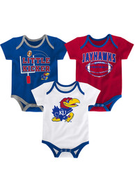 Kansas Jayhawks Baby Blue 3 Points One Piece