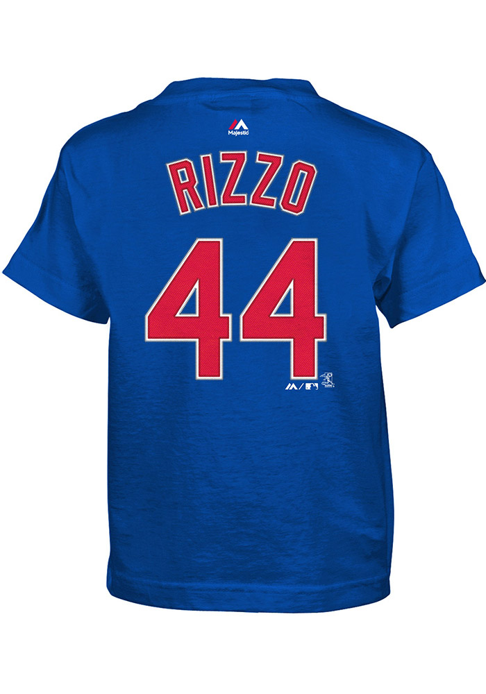 Anthony Rizzo Chicago Cubs Boys Blue Player Short Sleeve T-Shirt - Image 1