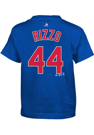 Anthony Rizzo Chicago Cubs Boys Blue Name and Number T-Shirt