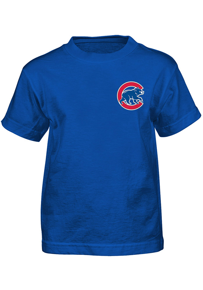 Anthony Rizzo Chicago Cubs Boys Blue Player Short Sleeve T-Shirt - Image 2