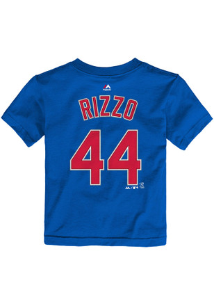 Anthony Rizzo Chicago Cubs Toddler Blue Name and Number Player Tee