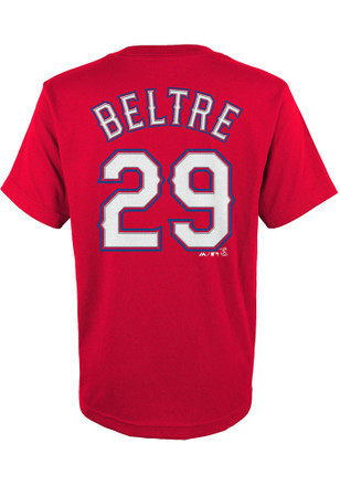 Adrian Beltre Outer Stuff Texas Rangers Kids Name and Number Blue Player Tee