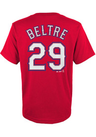 Adrian Beltre Texas Rangers Youth Player T-Shirt - Red