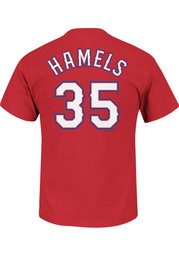Cole Hamels Texas Rangers Youth Player T-Shirt - Blue