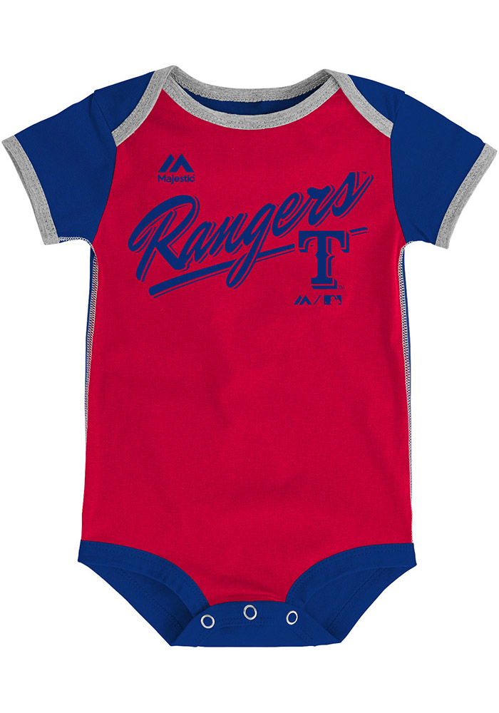 Texas Rangers Baby Red Decendant Creeper 13346233
