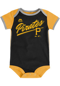 Pittsburgh Pirates Baby Black Decendant One Piece