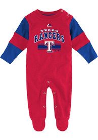 Texas Rangers Baby Team Believer Red Team Believer One Piece Pajamas