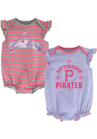 Pittsburgh Pirates Baby Pink Team Sparkle One Piece