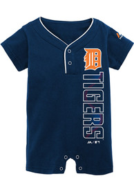 Detroit Tigers Baby Navy Blue Baseball One Piece