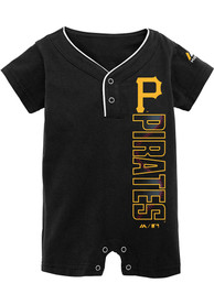 Pittsburgh Pirates Baby Black Baseball One Piece