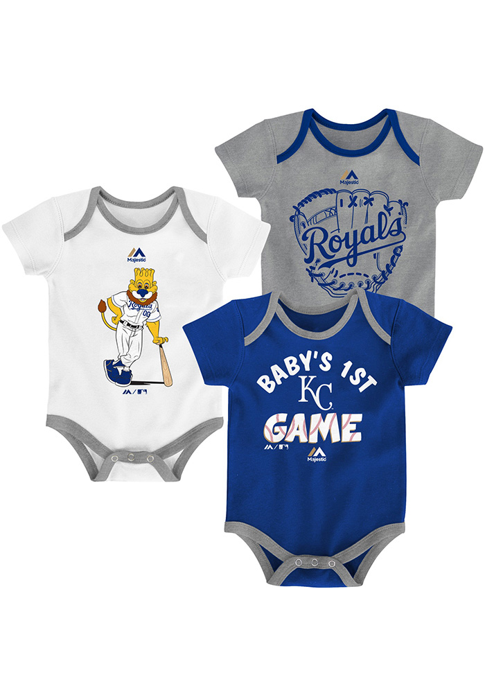 Kansas City Royals Baby Blue Small Fan One Piece - Image 1