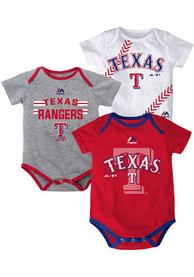 Texas Rangers Baby Red Three Strikes One Piece