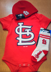 St Louis Cardinals Baby Red Secondary One Piece