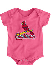 St Louis Cardinals Baby Pink Primary One Piece