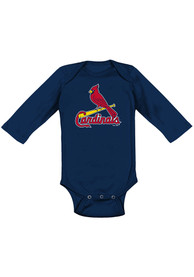 St Louis Cardinals Baby Navy Blue Primary One Piece